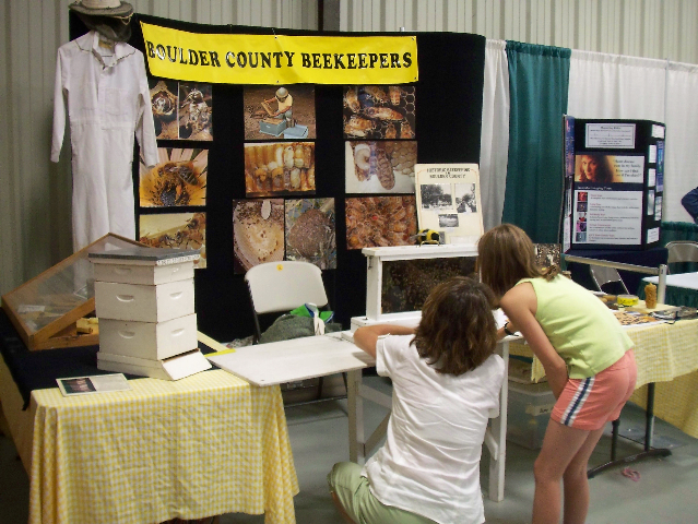 Beekeeping booth, Boulder County Fair
